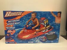 Banzai Kids Toys Motorized Wave Cruiser Pool Rider Pools Toy Speed Boat 20feet