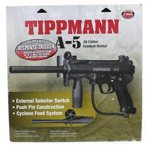 TIPPMANN A-5 WITH RT RESPONSE TRIGGER PAINTBALL GUN NEW VERSION