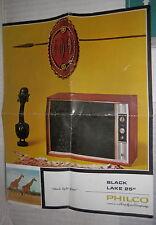 FOGLIO PUBBLICITARIO BLACK LAKE 25 PHILCO TECNICA RADIO TRASMISSIONI VECCHIO DI