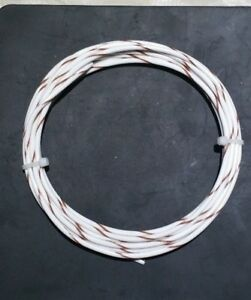 18 AWG Mil-Spec Wire (PTFE) Stranded Silver Plated Copper Type E, Wht/Brn 10 ft