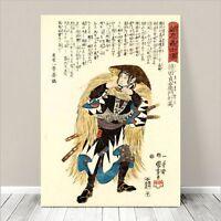 "Vintage Japanese SAMURAI Warrior Art CANVAS PRINT 36x24""~ Kuniyoshi  #218"