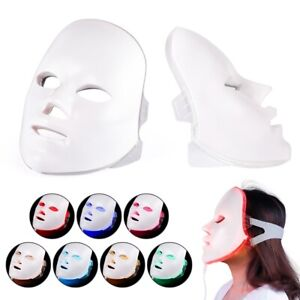 7 Colors Photon LED Facial Mask Skin Rejuvenation Anti Wrinkles Therapy PDT Care