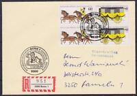 Bund W ZD 6 MeF 1255 - 1256 auf R- Brief mit SST Bonn Ausstellung - Hameln 1985