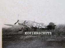 Altes Foto deutsches Flugzeug / Jagdflugzeug Kennung 3 / Me 109 ?