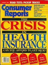 1990 Consumer Reports Magazine: Health Insurance Crisis/Pickup Trucks/Gas Ranges