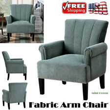 Accent Fabric Arm Chair Single Sofa Club Chair With Tufted Back For Living Room