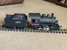 LGB (20231) 2-4-0 Loco & Tender AT & SF Santa Fe 1217 - G Scale Model with Smoke