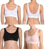 Womens Sloggi Double Comfort Cotton Rich Non Wired Bra Black, White or Skin