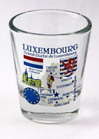LUXEMBOURG EU SERIES LANDMARKS AND ICONS COLLAGE SHOT GLASS SHOTGLASS