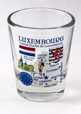 LUXEMBOURG EU SERIES LANDMARKS AND ICONS COLLAGE SHOT GLASS SHOTGLASS