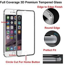 Metal Edge iPhone 8 Plus Black Brand New Screen Protector Tempered Glass For