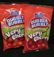"DUBBLE BUBBLE-""VERY CHERRY""  Flavored Loose Gum Balls {2 BAGS}"