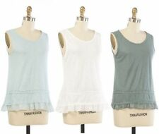 Women's Regular Sleeveless 100% Cotton Tops & Blouses