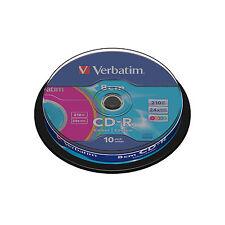 10 Cd-r Verbatim Color 8CM (24x) 210MB 43413 Eje/Caja De Torta