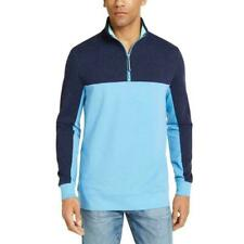 Club Room Mens Sweater Blue Size 2XL 1/2 Zipper Colorblock Pullover $55 #009