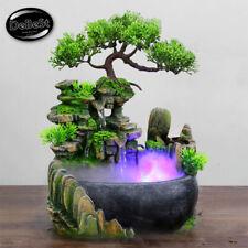 Adornos de Mesa Fuente con Cascada con Luces LED Feng Shui Waterfall Fountain Or