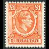 GIBRALTAR 1938 £1 Orange. SG 131. Mint Never Hinged. (WF151)