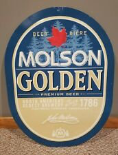 2001 Molson Golden Canadian Oval Beer/Biere Sign Metal Tin Man Cave Bar Sign