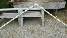 2 Antique Angled Hook Racks, Old Mint Green Distressed Chic, 15 Acorn Hooks