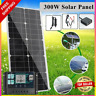 300W Solar Panel Kit Monocrystalline 12/18V Flexible RV MPPT Boat Moblie Batter