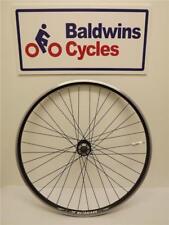 700c FRONT DISC BRAKE Hybrid Bike Wheel D/ WALL - BLACK - Quick Release