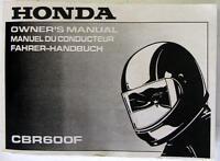 HONDA CBR600F 1994 Original Motorcycle Handbook #37MAL600 00X37-MAL-6001