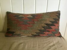 new VINTAGE KILIM woolen cottage PILLOW anthropologie pillowcover COVER 24x12