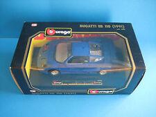 Diecast Bburago Bugatti EB 110 1991 1/24 Blue Mint in Box