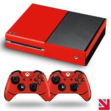 Red Xbox One Skin Decal Vinyl Sticker Wrap
