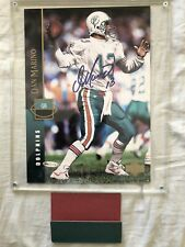 Dan Marino autographed signed autograph Dolphins 1994 Upper Deck photo card UDA