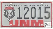 *99 CENT SALE*  2016 University Of New Mexico License Plate #12015 UNM Lobos NR