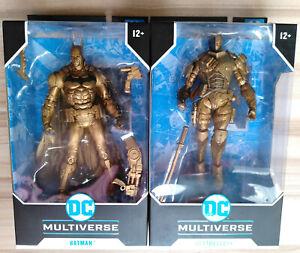 McFarlane ARKHAM BATMAN & DEATHSTROKE GOLD DC Multiverse PLATINUM Figures set