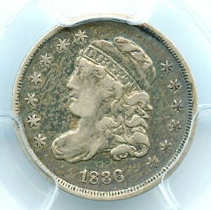 1836 Small 5C Capped Bust Half Dime, PCGS VF30