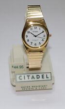 Mens Citadel Gold-tone 35mm Expansion Band Watch 66826