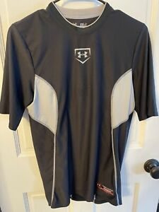 Mens Under Armour Baseball Heat Gear Fitted Long Sleeve Shirt Size Small