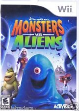 Monsters vs. Aliens (Nintendo Wii, 2009)   Factory Sealed Cellophane