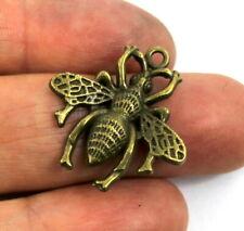 Encantos De Abeja De Bronce-pequeño tibetano granos del Metal Tarjetas Craft Joyería