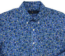 Men's RALPH LAUREN Blue White Pink + Floral Shirt L Large NWT NEW AmAzInG!