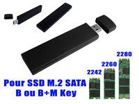 Adaptateur M2 2240 2242 2280 vers USB3 - Boitier aluminium -  Pour M.2 Sata