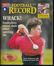 1995 AFL Football Record Melbourne Demons v West Coast Eagles Aug 19 unmarked