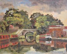 Marple Canal, Cheshire, Original Oil Landscape Painting