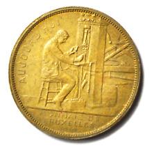 1910 Monnaie De Bruxelles Bronze Commemorative Medal 30mm Belgium