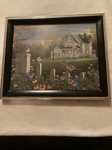 """Malden Photo Picture Frame Black With Silver Tone Trim 8"""" X 10""""  Wall Frame"""