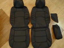 1992-1998 Lexus SC300 SC400 Genuine Leather Seat Covers Black Front/Rear