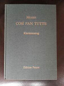 Mozart : COSI FAN TUTTE - Klavierauszug Edition Peters - Leinen deutsch/ital.