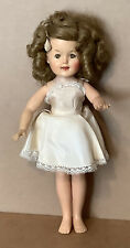 """Vintage Shirley Temple Doll 12"""" with Original Tagged Dress Ideal 1957"""