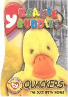 TY Beanie Babies BBOC Card - Series 3 Beanie/Buddy Right (GOLD) - QUACKERS
