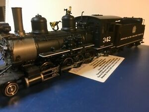 D&RGW MMI Mountain Model Imports On3 C-19 #342 Tsunami equipped Brass/ Diecast
