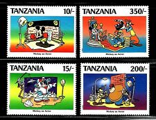 SELLOS TEMA DISNEY. TANZANIA 1990 644/47 MICKEY ACTOR 4v.