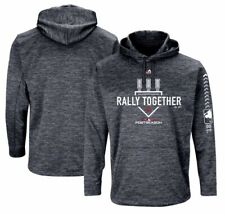 Mens Cleveland Indians Majestic 2018 Postseason Authentic Pullover Hoodie Sz XL
